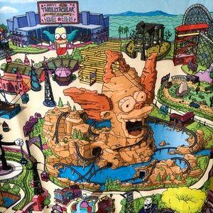 The Simpsons Krustyland T-shirt Universal Studios